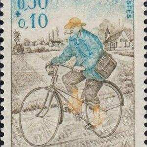 1972 Yt 1710 Rural postman on a bicycle Sc B460