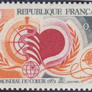 1972 Yt 1711 Heart's month Worldwide Sc 1333